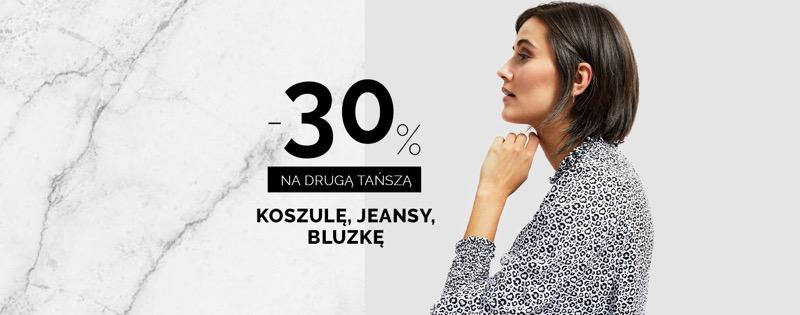 Moodo: 30% rabatu na drugą tańszą koszulę, jeansy, bluzkę damską                         title=