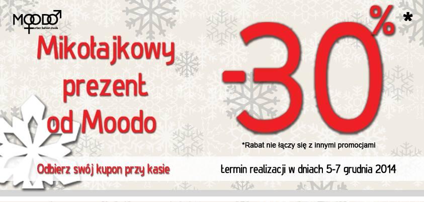 Mikołajkowy prezent od Moodo: 30% rabatu na zakupy