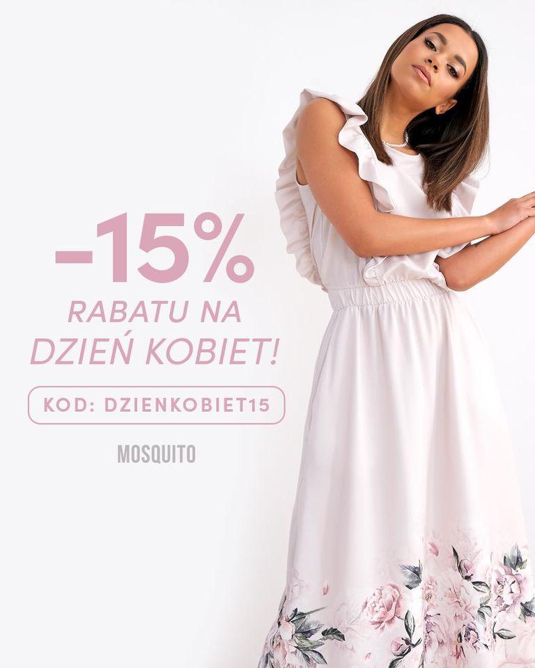 Mosquito Mosquito: 15% rabatu na odzież damską - promocja na Dzień Kobiet