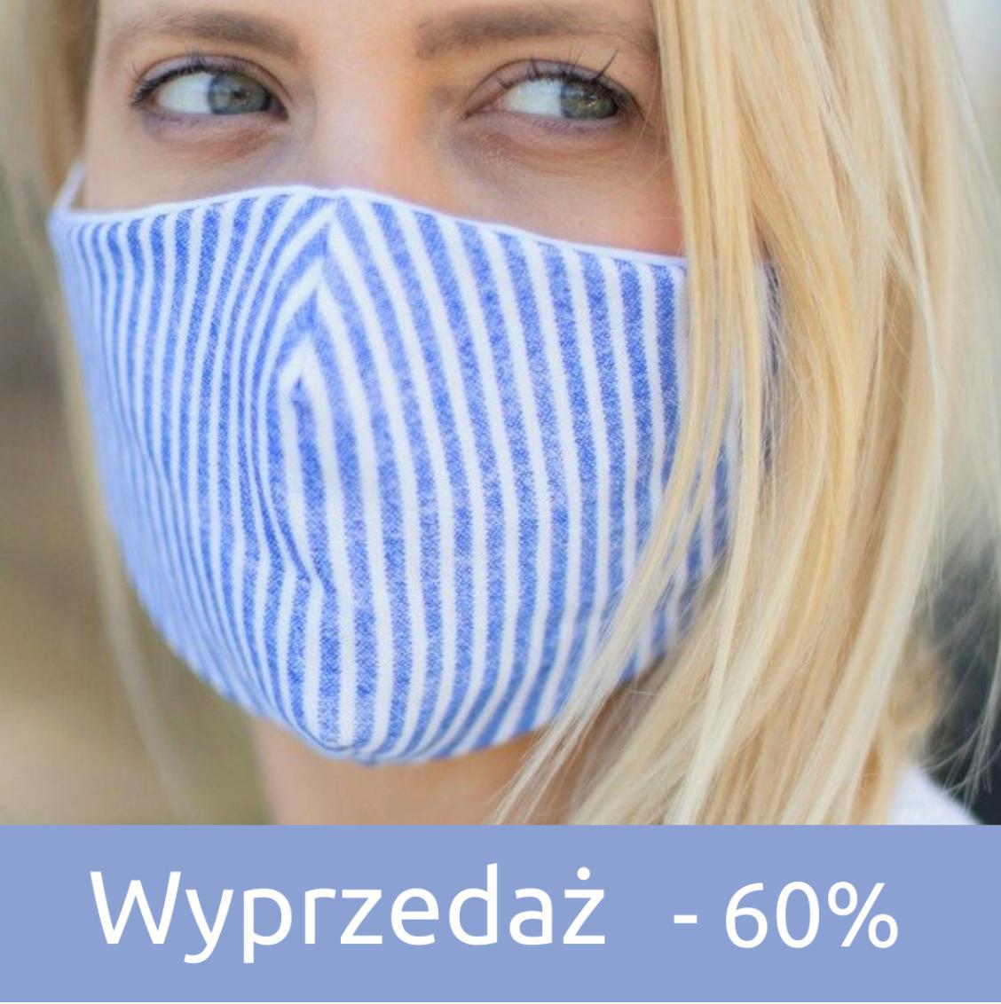 Mustache: wyprzedaż 60% zniżki na maski