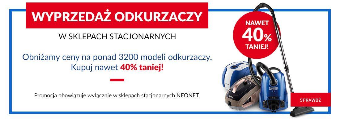 NeoNet: wyprzedaż do 40% rabatu na odkurzacze