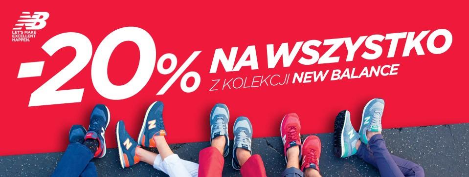 New Balance: 20% zniżki na wszystko