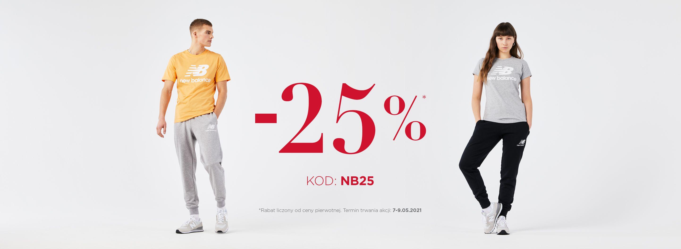 New Balance: 25% rabatu na odzież, obuwie oraz akcesoria sportowe