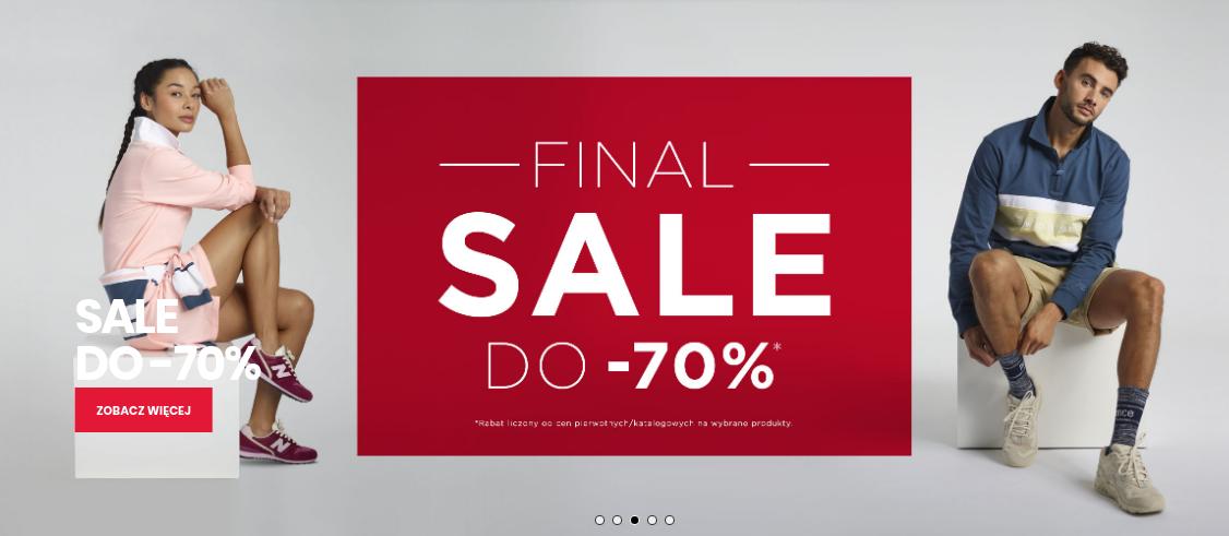 New Balance: wyprzedaż do 70% zniżki na odzież oraz obuwie sportowe                         title=