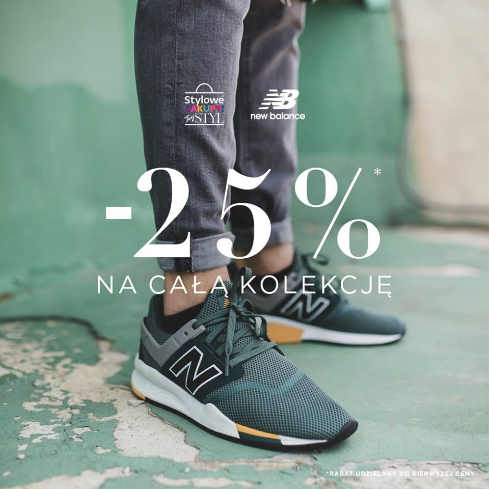 New Balance: Stylowe Zakupy 25% zniżki na odzież i obuwie sportowe
