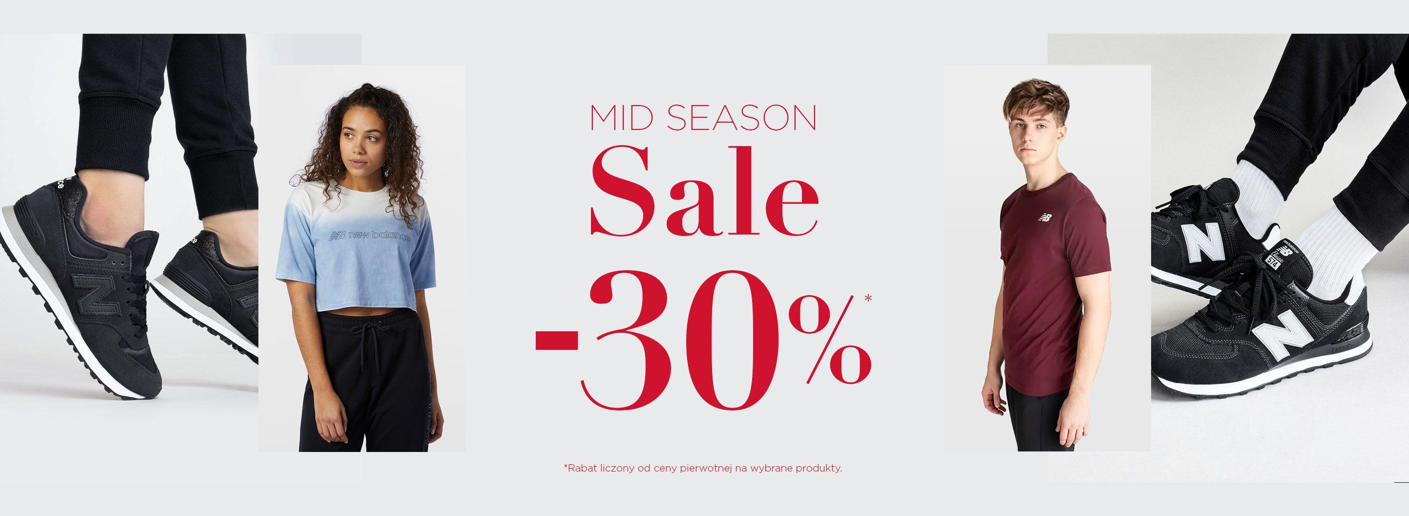 New Balance: wyprzedaż 30% rabatu na odzież damską, męską oraz dziecięcą - wybrane produkty
