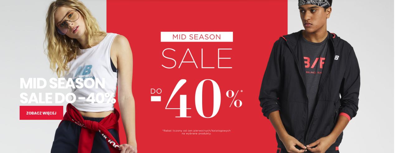 New Balance: wyprzedaż do 40% zniżki na wybrane produkty odzieży i obuwia sportowego                         title=