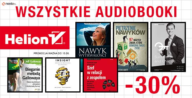 Nexto: 30% zniżki na wszystkie audiobooki wydawnictwa Helion