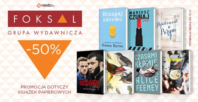 Nexto: 50% rabatu na książki z grupy wydawniczej Foksal