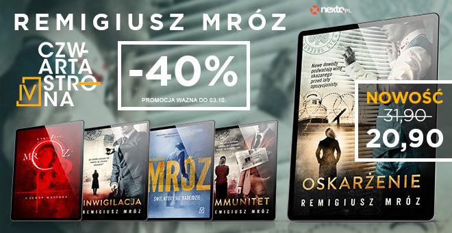 Nexto: 40% rabatu na książki autora Remigiusz Mróz