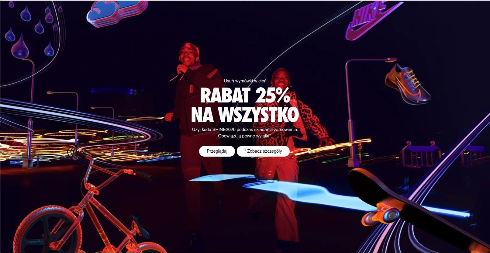 Nike: 25% zniżki na buty i ubrania sportowe Nike