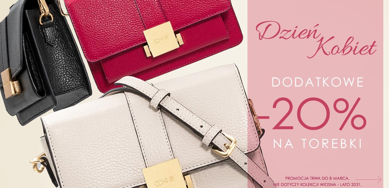 Ochnik: dodatkowe 20% zniżki na torebki - promocja na Dzień Kobiet