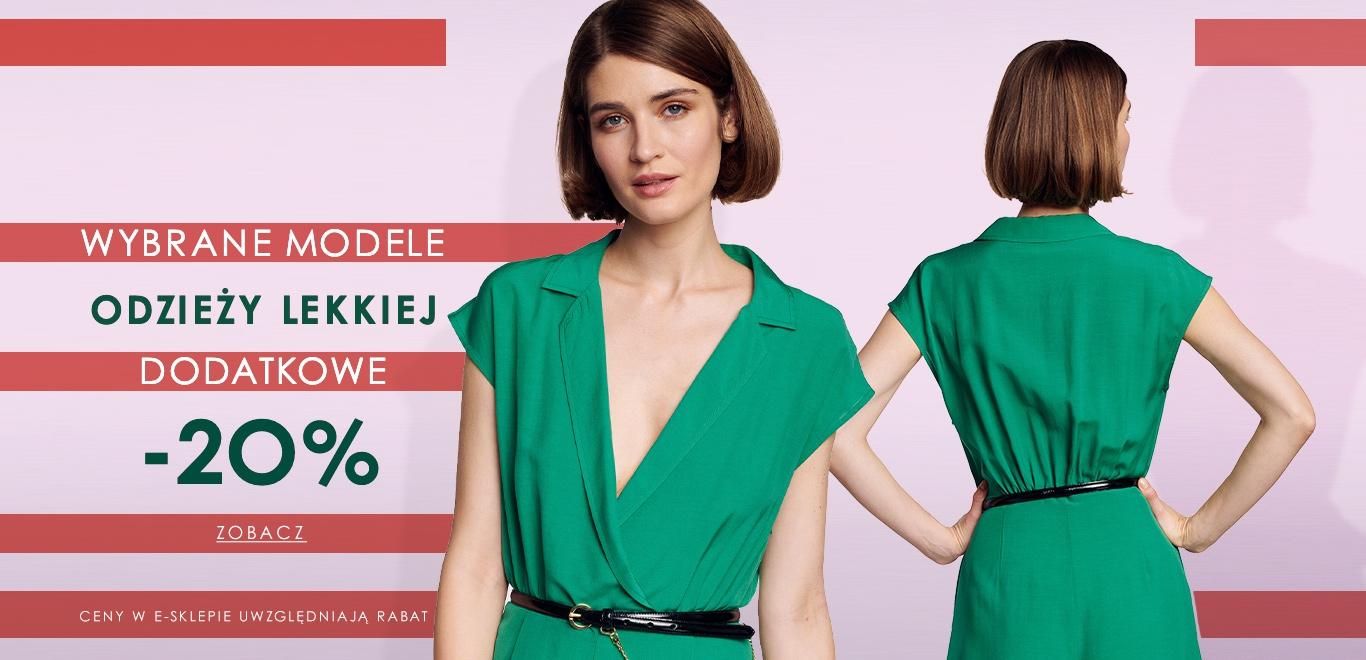Ochnik: dodatkowe 20% rabatu na wybrane modele odzieży lekkiej