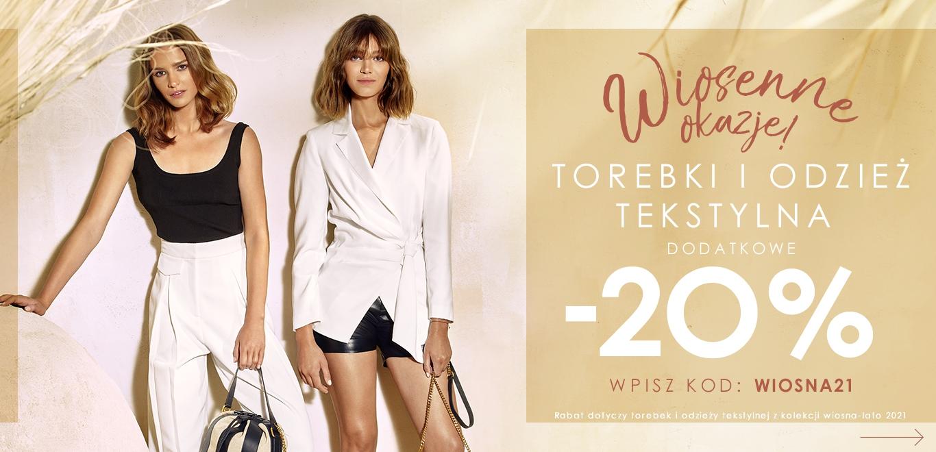 Ochnik: dodatkowe 20% rabatu na torebki i odzież tekstylną z kolekcji wiosna-lato 2021