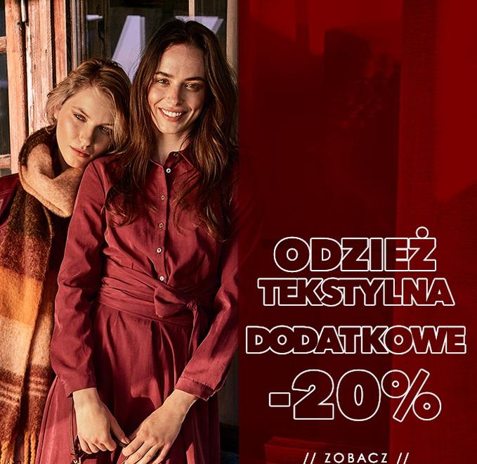 Ochnik: dodatkowe 20% rabatu na odzież tekstylną