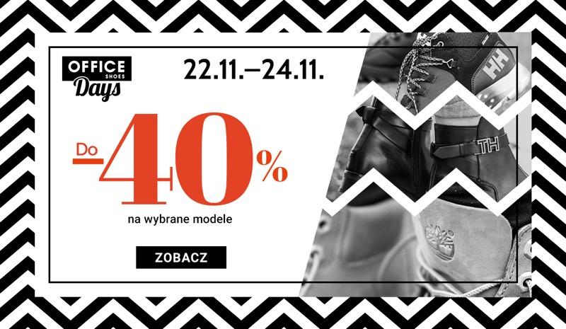 Office Shoes: do 40% rabatu na wybrane modele obuwia damskiego, męskiego i dziecięcego