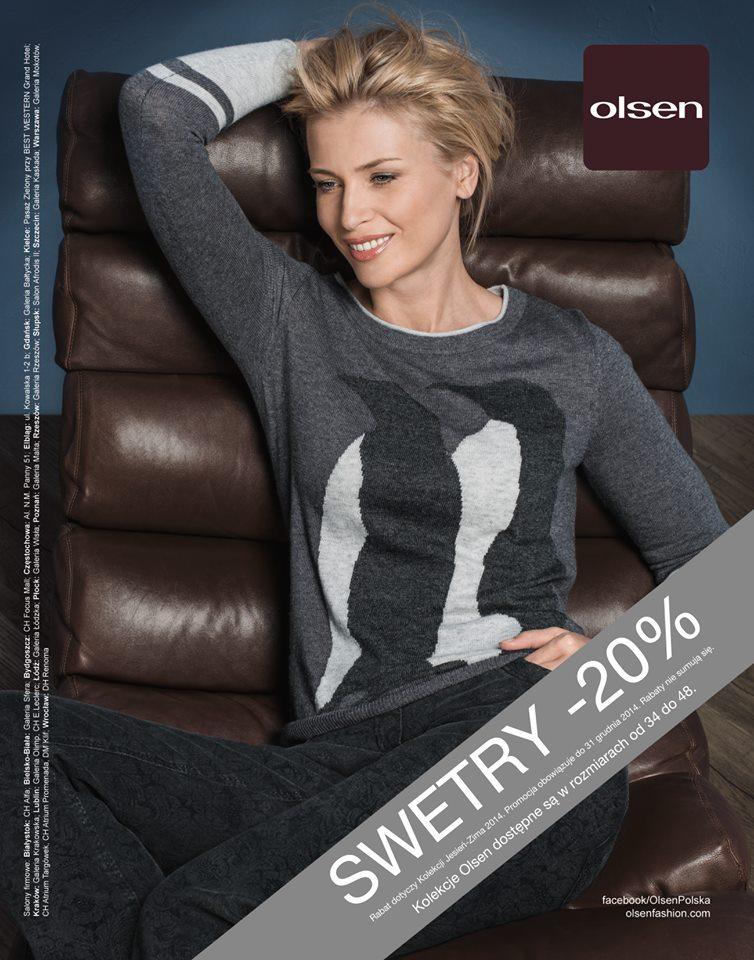 Olsen: 20% zniżki na swetry