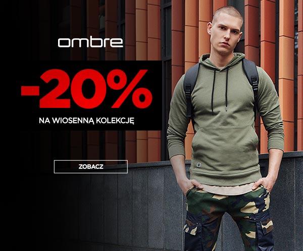 Ombre Ombre: 20% rabatu na wiosenną kolekcję odzieży męskiej