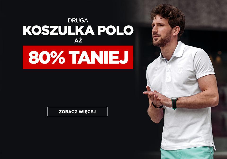 Ombre: 80% rabatu na drugą koszulkę polo