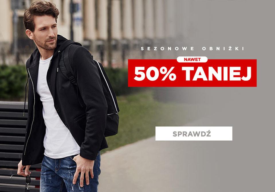 Ombre: wyprzedaż sezonowa 50% rabatu na odzież męską