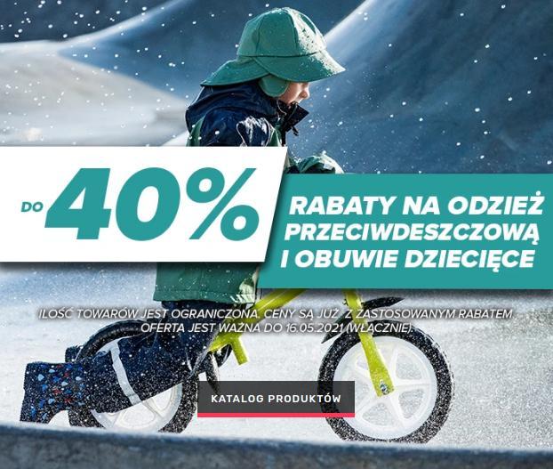 Open24: do 40% zniżki na odzież przeciwdeszczową i obuwie dziecięce
