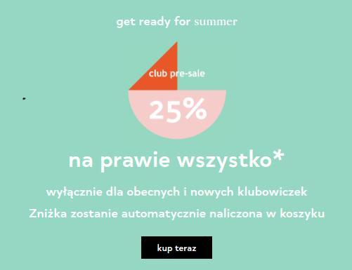 Orsay: wyprzedaż 25% rabatu na prawie cały asortyment odzieży damskiej