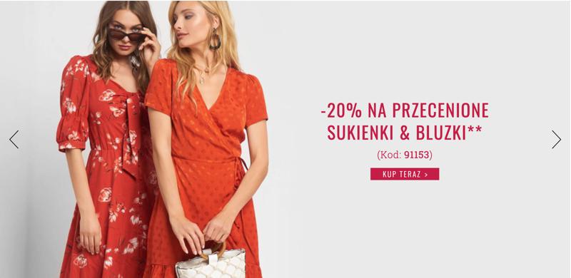 Orsay Orsay: 20% rabatu na przecenione sukienki i bluzki damskie