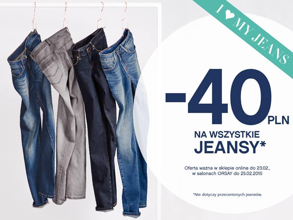 Orsay: 40zł zniżki na wszystkie dżinsy
