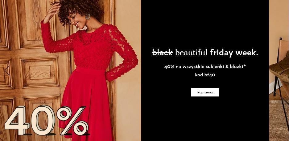 Orsay Orsay: Black Friday Week 40% zniżki na wszystkie sukienki i bluzki damskie