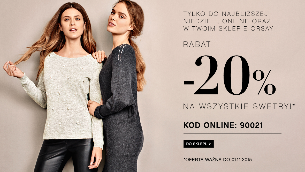 Orsay: 20% na swetry