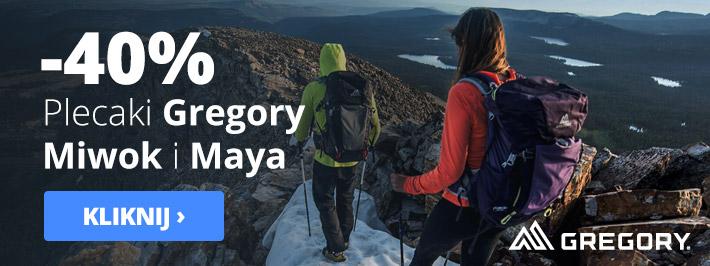 Outdoorzy: 40% rabatu na plecaki Gregory, Miwok i Maya