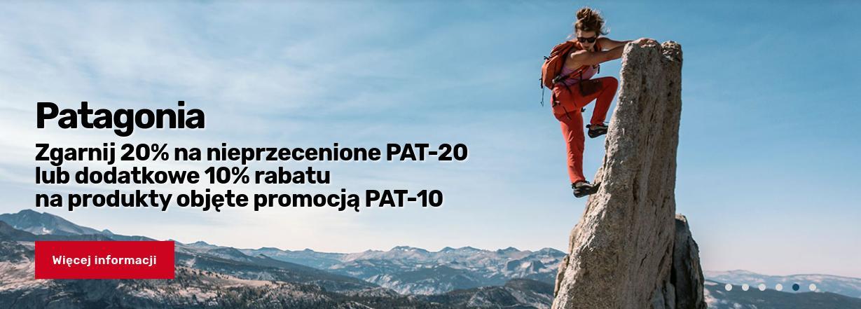 Outdoorzy: 20% zniżki na nieprzecenione produkty marki Patagonia lub 10% na przecenione