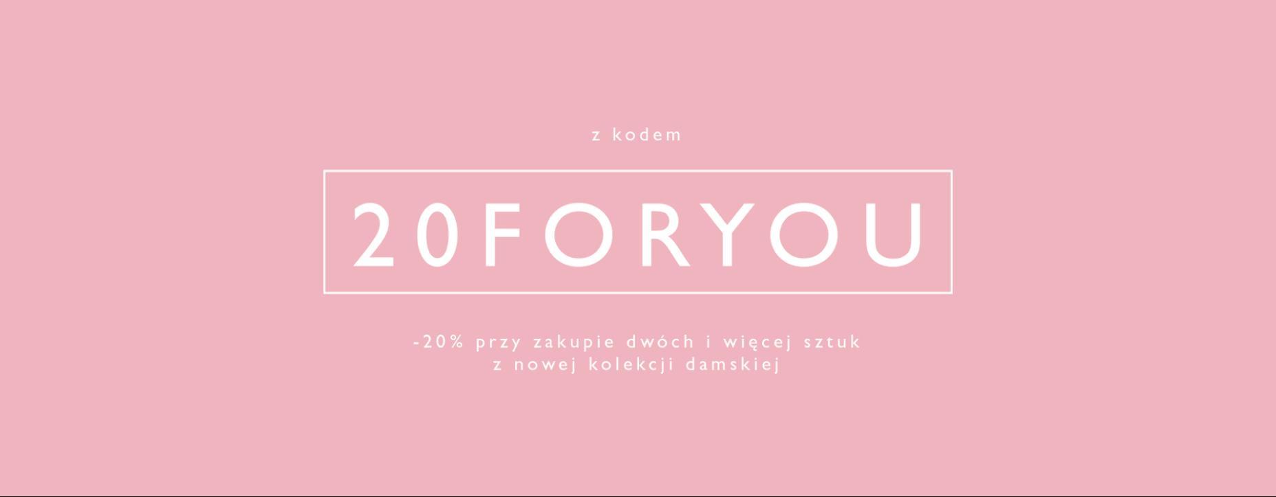 Outhorn Outhorn: 20% rabatu na nową kolekcję damską przy zakupie min. 2 produktów - promocja na Dzień Kobiet