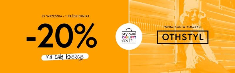 Outhorn: Stylowe Zakupy 20% rabatu na całą kolekcję odzieży damskiej i męskiej