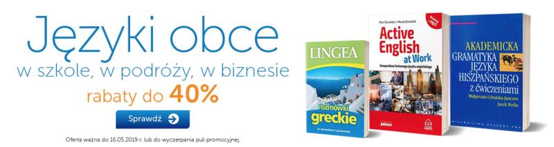 PWN Księgarnia Internetowa: do 40% rabatu na książki językowe