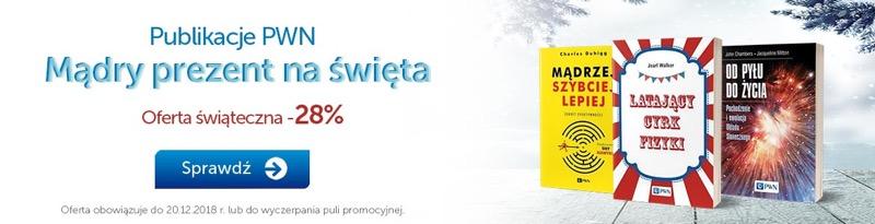 PWN Księgarnia Internetowa: 28% zniżki na książki polecane na prezent