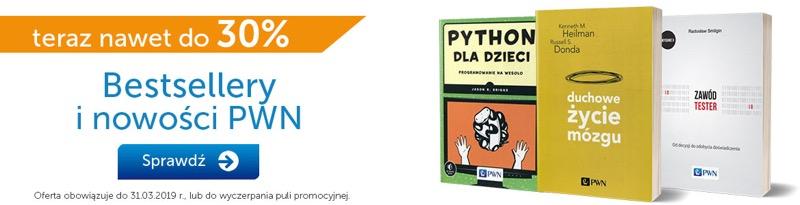 PWN Księgarnia Internetowa: do 30% zniżki na bestsellery i nowości książkowe