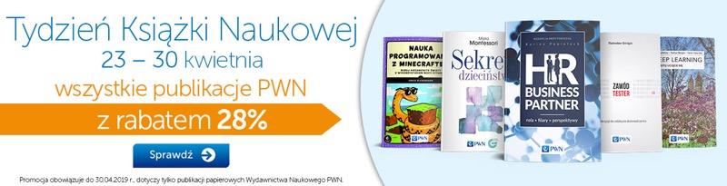 PWN Księgarnia Internetowa: 28% zniżki na wszystkie publikacje PWN