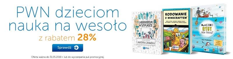 PWN Księgarnia Internetowa: 28% rabatu na książki naukowe dla dzieci