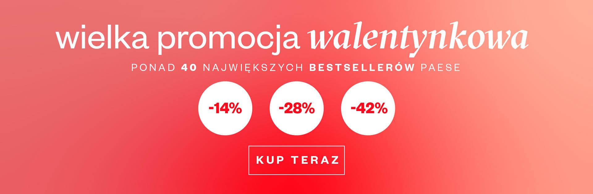 Paese: Wielka Promocja Walentynkowa do 42% zniżki na kosmetyczne bestsellery