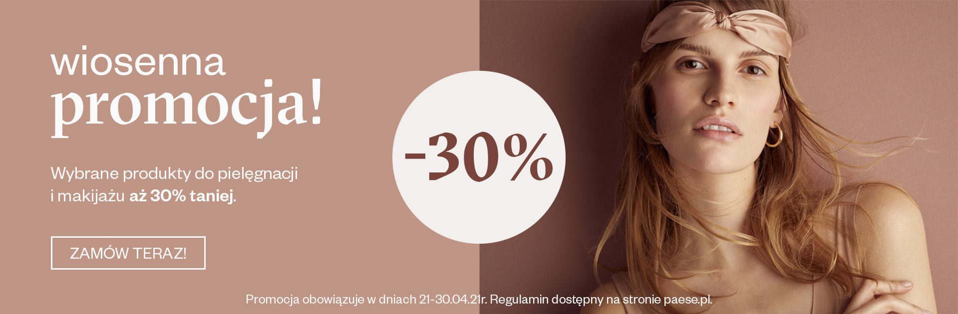 Paese: 30% zniżki na wybrane kosmetyki do pielęgnacji i makijażu