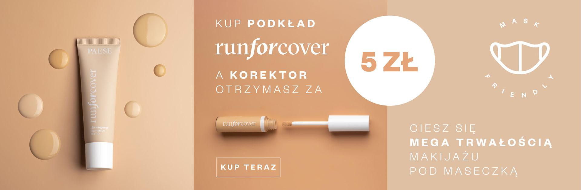 Paese: przy zakupie podkładu Runforcover, korektor otrzymasz za 5 zł