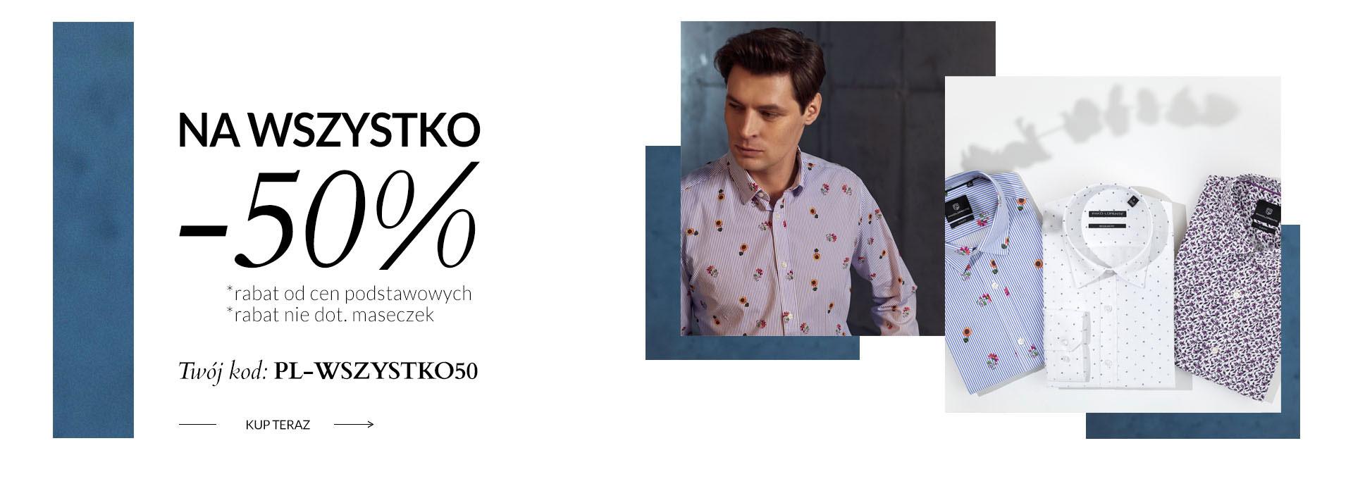 Pako Lorente: 50% zniżki na kolekcję odzieży męskiej