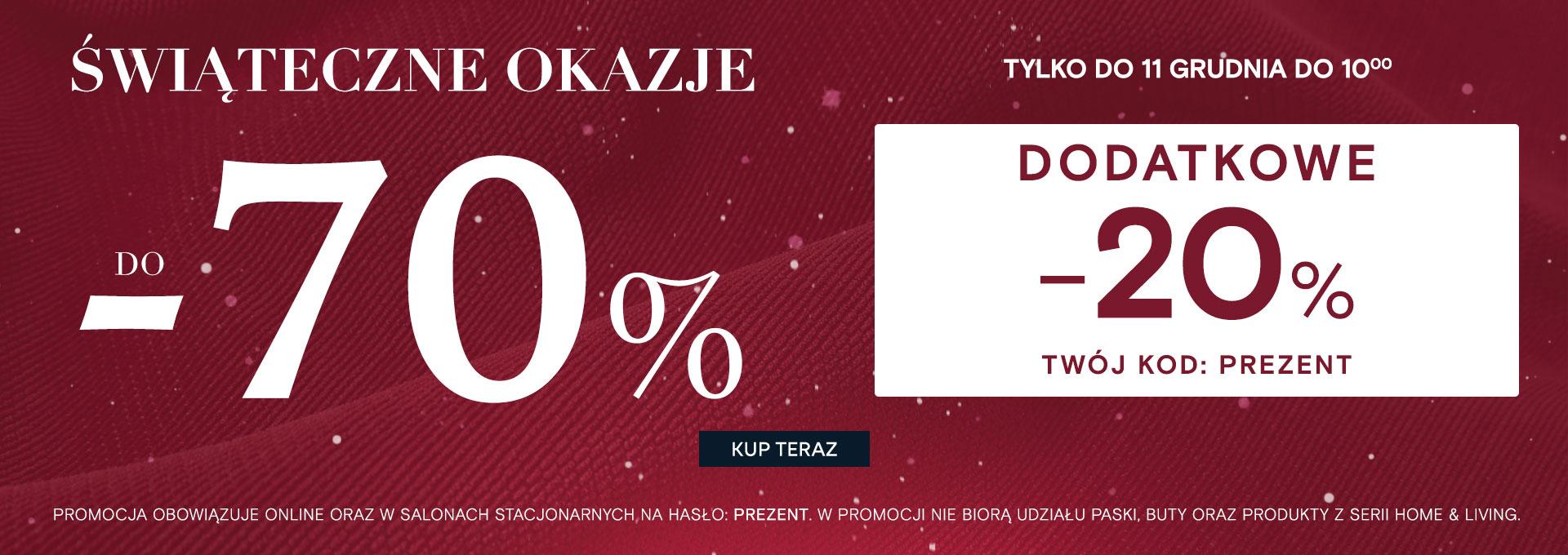 Pako Lorente: Świąteczne Okazje  do 70% rabatu na odzież męską