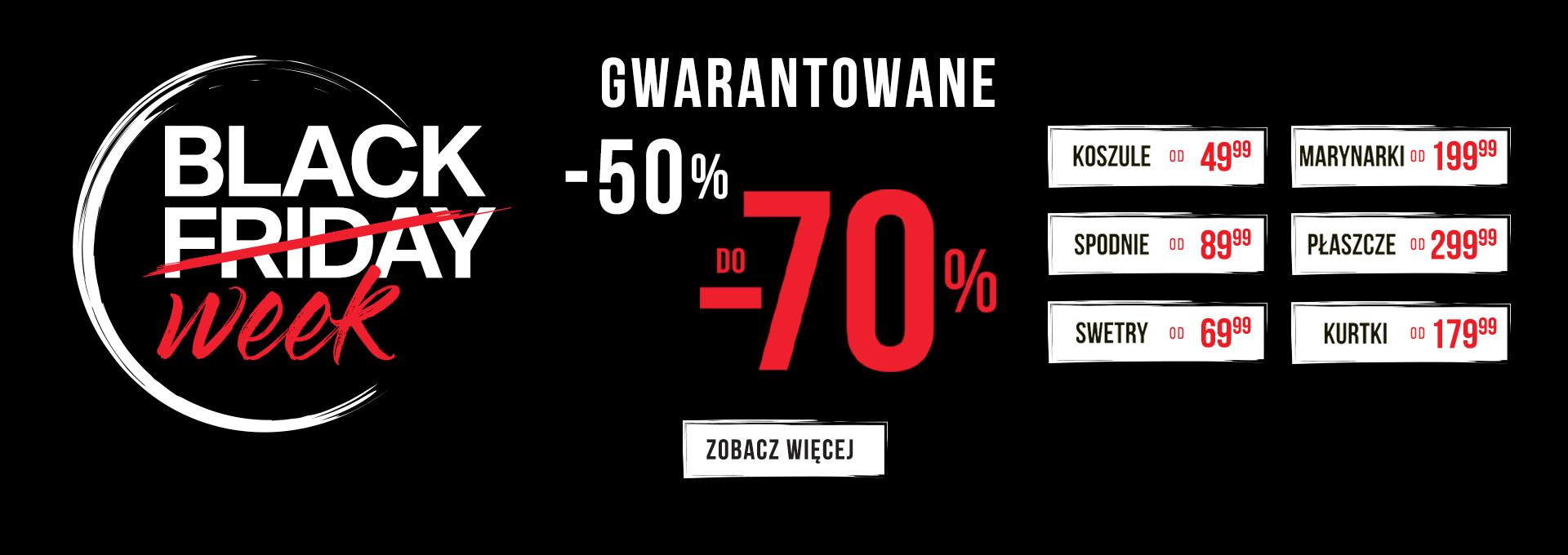 Pako Lorente: Black Week do 70% rabatu na odzież męską