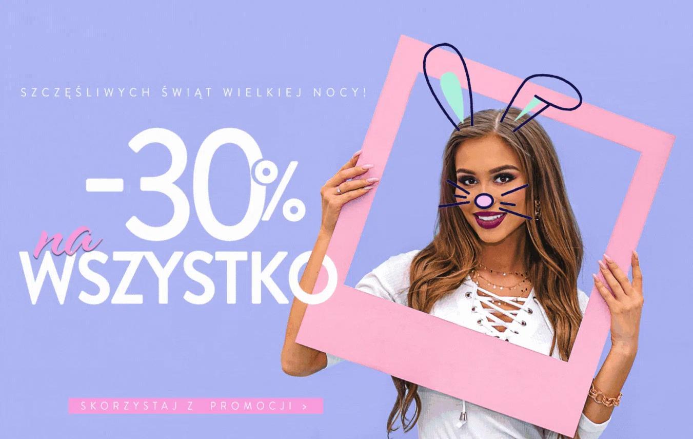 Pakuten: 30% zniżki na cały asortyment odzieży damskiej