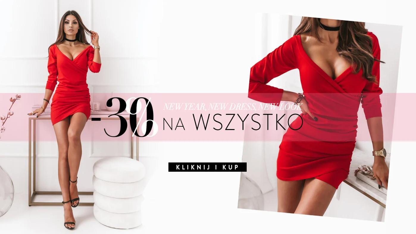 Pakuten: 30% zniżki na cały asortyment odzieży damskiej - sukienki, bluzki, dresy, swetry