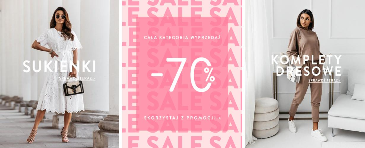 Pakuten: wyprzedaż do 70% rabatu na odzież damską - sukienki, bluzki i dresy