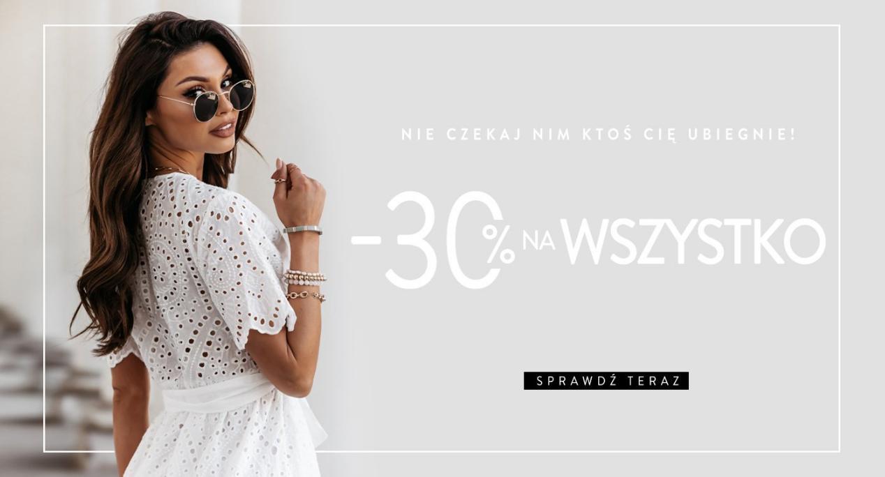 Pakuten: 30% zniżki na odzież damską - sukienki, bluzy, dresy