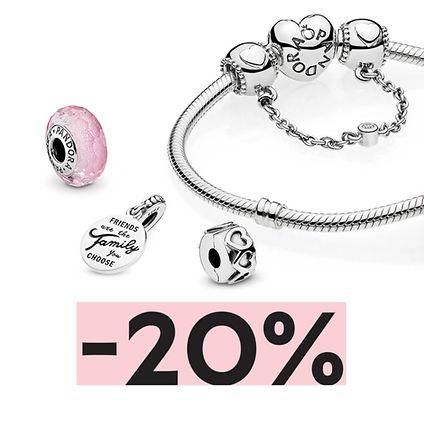 Pandora Pandora: 20% rabatu przy zakupie bransoletki z dwoma elementami